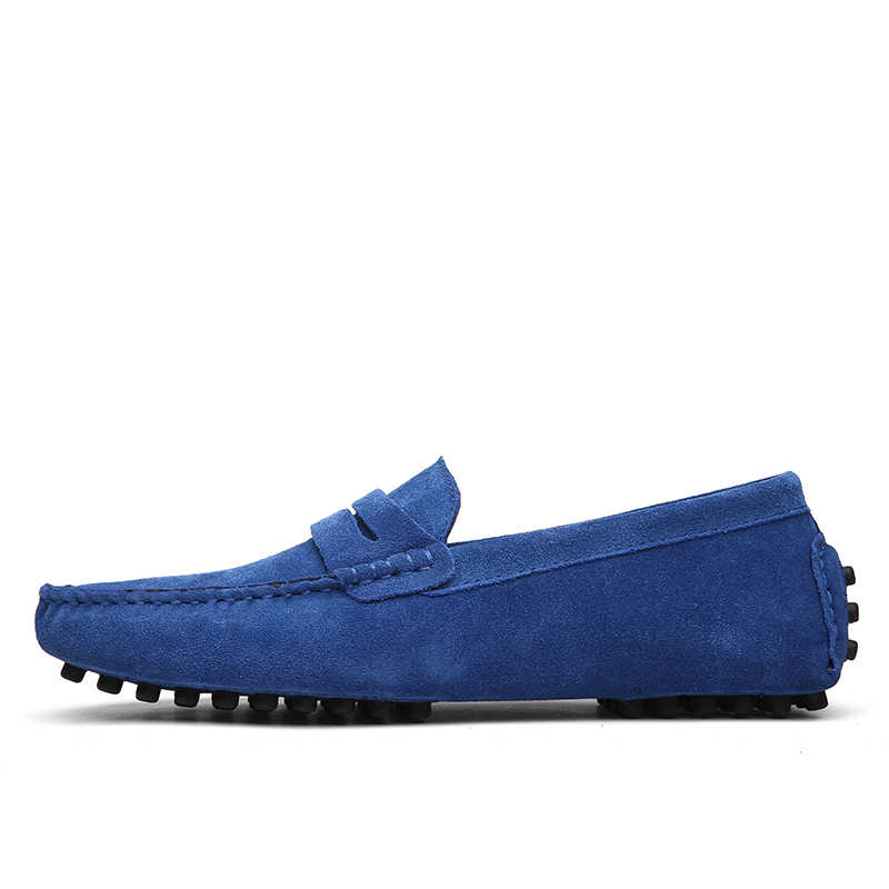 KOZLOV zapatos casuales italianos hombres cuero genuino marca de lujo Penny mocasines hombres mocasines diseñador moda Slipon barco Zapatos hombre