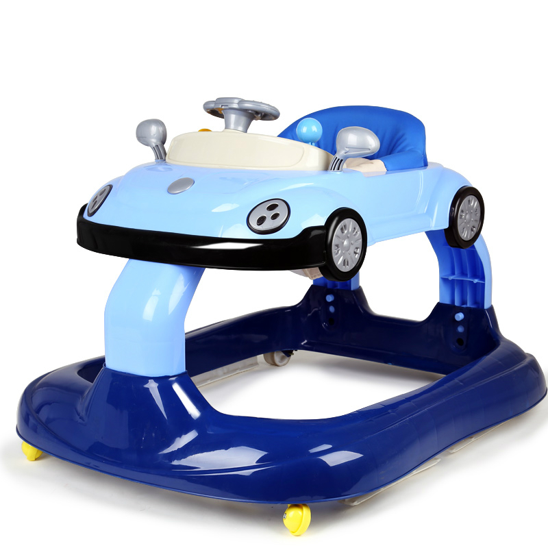 Hot Fashion Baby Walker Multifunctional Music Plate Large Chassis Folding Baby Walking Learning Car Anti-Roll Over Walker C01 2016 new baby walker car anti roll over multifunctional baby stroller music toys plate baby walk learning car folding walker c01