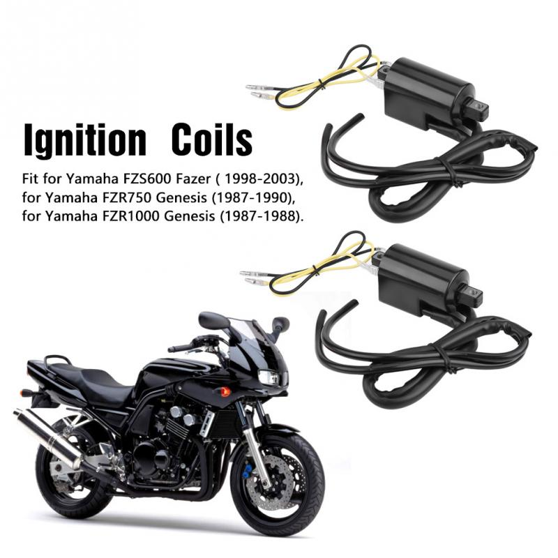 2pcs Motorcycle Accessory Ignition Coil for Yamaha FZS600 1998 2003 Fazer FZR750 1987 1990 FZR1000 1987
