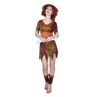 Indian Primitive Man Show Native Leopard Print Dress Savage Costume Carnival Cosplay