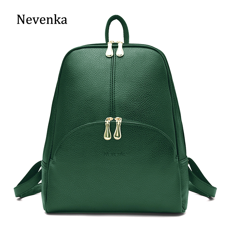 Nevenka Leather Backpack Women Solid Backpacks Light Weight Bag Cute Top Handle Backpacks For Girls Mini Backpack Female Bagpack