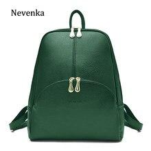 baa2c91564de Nevenka Leather Backpack Women Solid Backpacks Light Weight Bag Cute Top  Handle Backpacks for Girls Mini Backpack Female Bagpack
