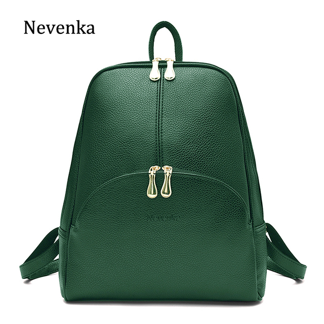 Nevenka Leather Backpack Women Solid Backpacks Light Weight Bag Cute Top  Handle Backpacks for Girls Mini ff1520d730