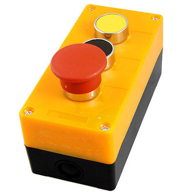 AC 240V 400V Red Mushroom Flat Yellow Black Momentary Switch Push Button Station [vk] 91316041633525 switch led pmi yellow red switch