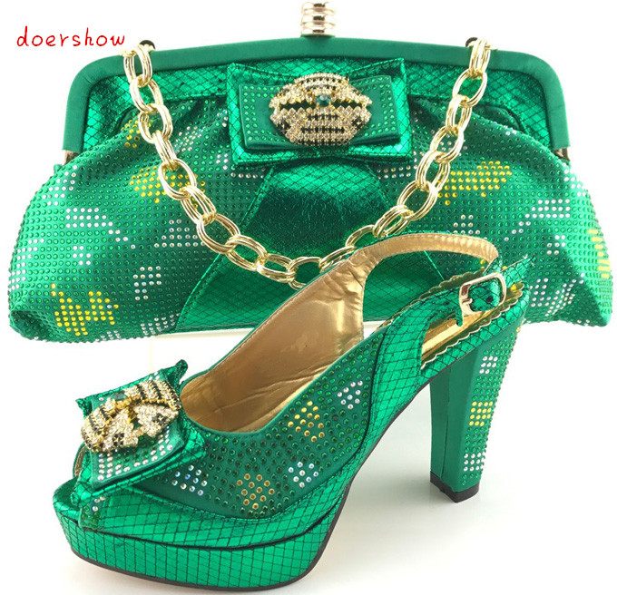 Fashion doershow Italian Shoes with Matching Bags Shoes and Bags To Match Fuchsia Shoe and Bag Set for Party In Women PQS1-10 good selling african women shoes and bag set fashion shoes heels 9cm italian shoes and bags to match for party as1 4