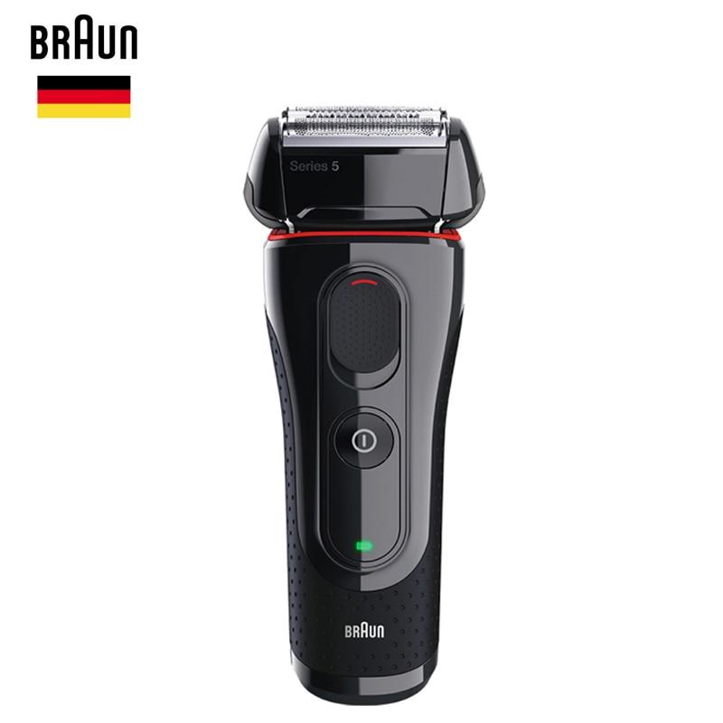 Braun Men'S Electric Foil Shaver Series 5 5030s Rechargeable Razor For Men Beard Shaving Machine Precision Trimmer 100-240v