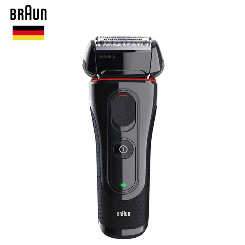 Braun Hommes Électrique Feuille Rasoir Série 5 5030 s Rechargeable Rasoir Pour Hommes Barbe Rasage Machine Tondeuse De Précision 100- 240 v