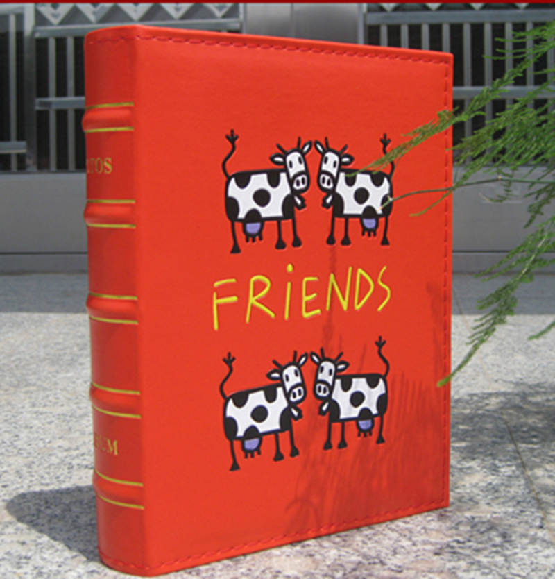 Cute Cow Pu Leather Vintage Photo Album for 200 Photos of 6 Inch 4D Family  Wedding  Graduation birthday Gift Photo Album