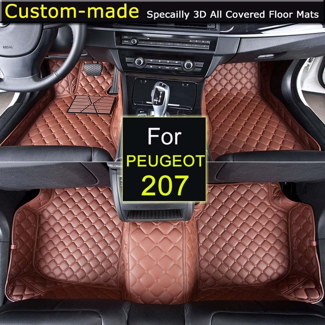 For Peugeot 207 Car Floor Mats Customized Foot Rugs 3D Auto Carpets ...