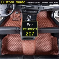 For Peugeot 207 Car Floor Mats Customized Foot Rugs 3D Auto Carpets Custom made for Peugeot 206 207