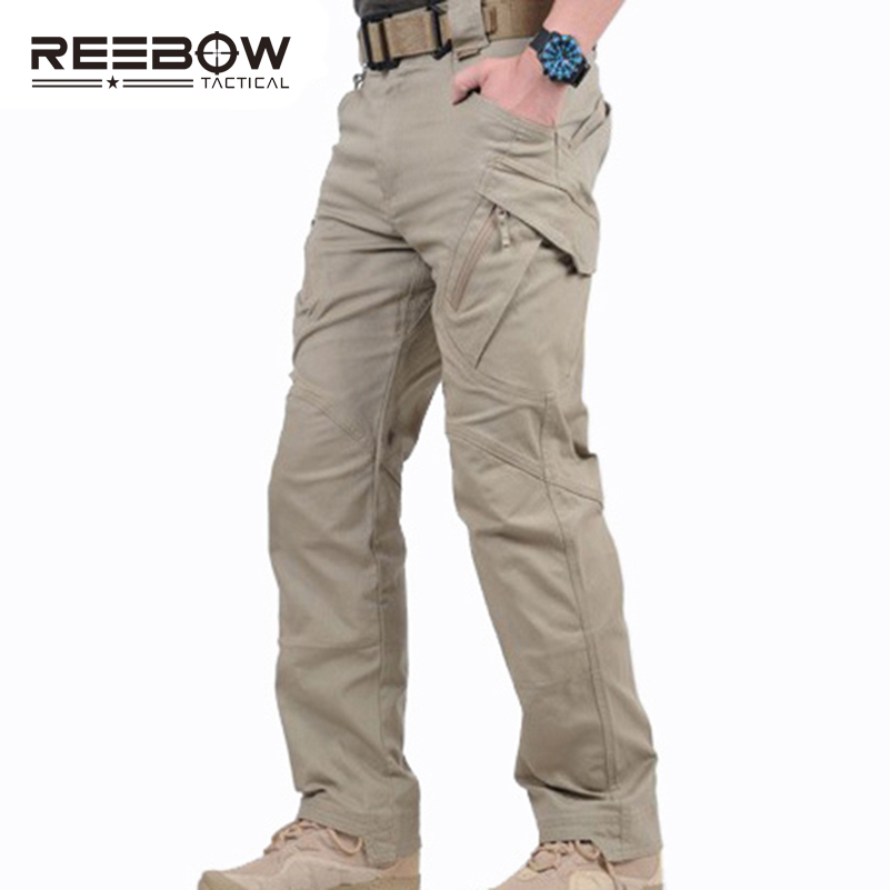ФОТО IX9 Urban Tactical Men Outdoor Military Cargo Pants Autumn Winter Sports Camping Hiking Special Forces SWAT Police Trousers
