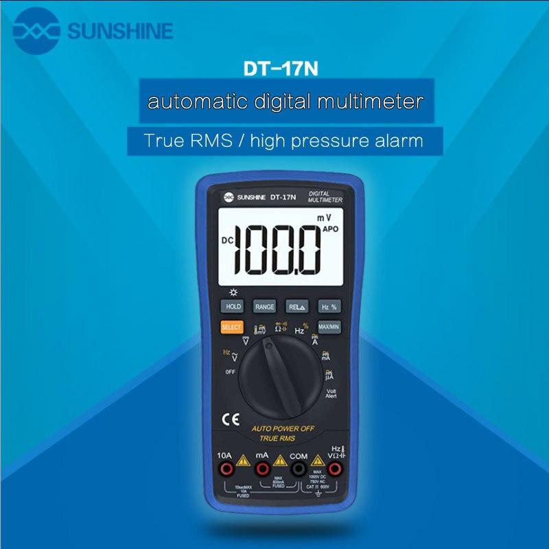 DT-17N haute précision affichage lcd multimètre numérique 35/6 instrument automatique AC tension DC mesure de résistance de courant