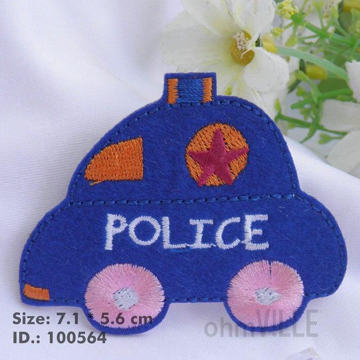 """100564 синий полицейский автомобиль железные патчи """"легко наносится, просто гладить"""" Гарантировано качество"""
