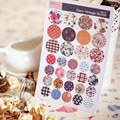6 hojas/sistema solo Original deco sticker vintage pastoral floral de imitación tela scrapbooking pegatinas niños pegatinas