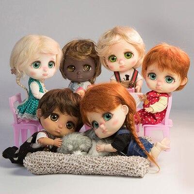 En stock 1/8 bru 5 style un pc BJD expression poupée sombre surprise choc sac à main larmes langue nue démissionnaire modèle poupée pour fille