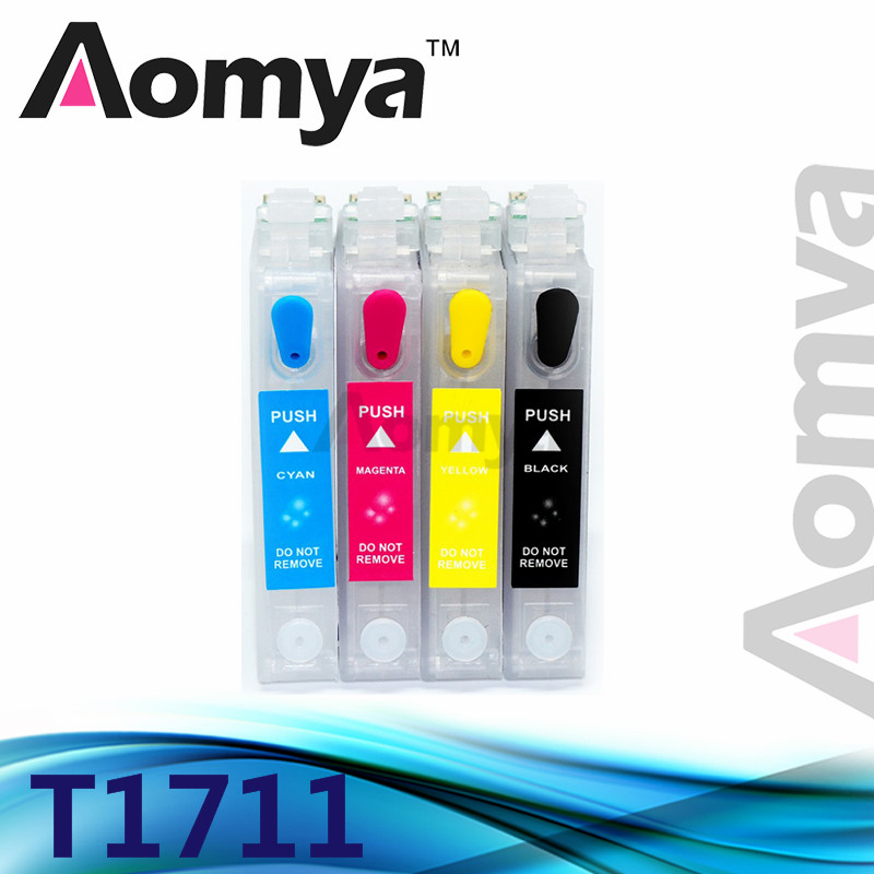 Aomya T1711-T1714 T1711 Refillable Ink Cartridge For Epson XP-103 XP-203 XP-207 XP-303 XP-306 XP-33 XP-406 XP-413 XP313 PrinterAomya T1711-T1714 T1711 Refillable Ink Cartridge For Epson XP-103 XP-203 XP-207 XP-303 XP-306 XP-33 XP-406 XP-413 XP313 Printer