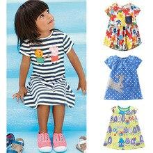 Marque Qualité 100% Coton 2017 Nouveau Bébé Filles Robes D'été Enfants Vêtements Enfants Vêtements Filles Casual Robe Bébé Fille Vêtements