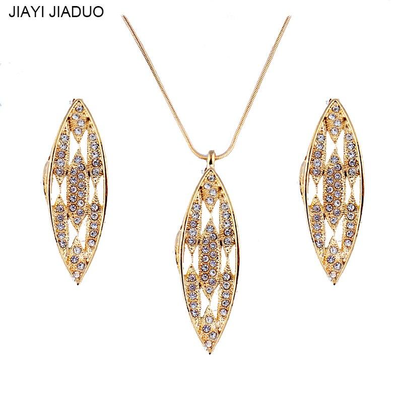 Humor Jiayijiaduo Modische Anhänger Ohrringe Schmuck Set Für Glamour Frauen Bekleidung Zubehör Kristall Schmuck & Zubehör