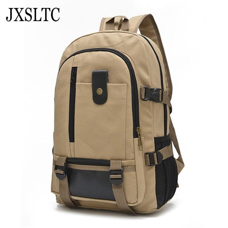 New fashion mens backpack vintage canvas backpack school bag men travel bags large capacity 14 inch Laptop travel backpack bag
