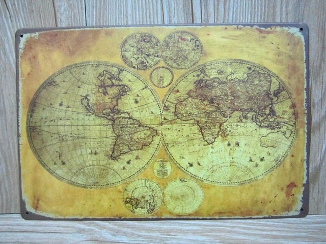 About the world map vintage tin signs a 0225 metal painting home about the world map vintage tin signs a 0225 metal painting home decor wall art gumiabroncs Images
