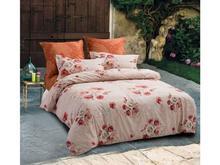 Комплект постельного белья двуспальный-евро СайлиД, B, розовый, с цветами