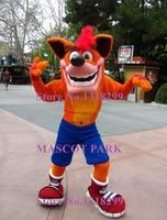 mascot Crash Bandicoot Mascot Costume Adult Size Hot Sale Anime Cosplay Costumes Carnival Fancy Dress Kits for sport