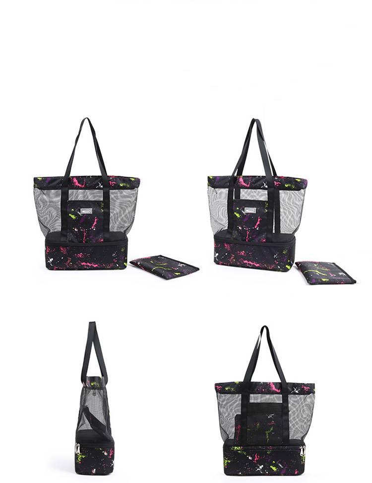Mommy bag New Large-capacity Mummy handbag Double-layered travel back fresh-keeping bag Ice pack