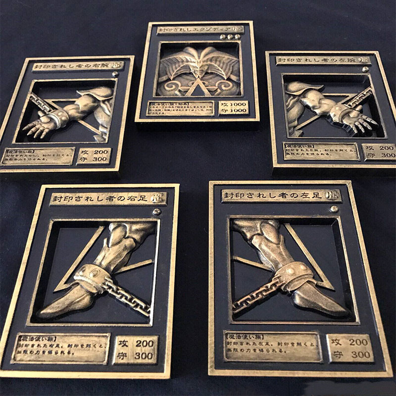 5Pcs YU GI OH Gold Card Metal Card Local Japan Golden Eye White Dragon VOL Edition Collection Card Boys Girls Toys Gifts