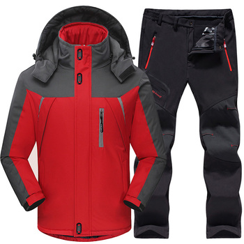 Windproof Waterproof Thermal Fleece Jacket And Pants sets