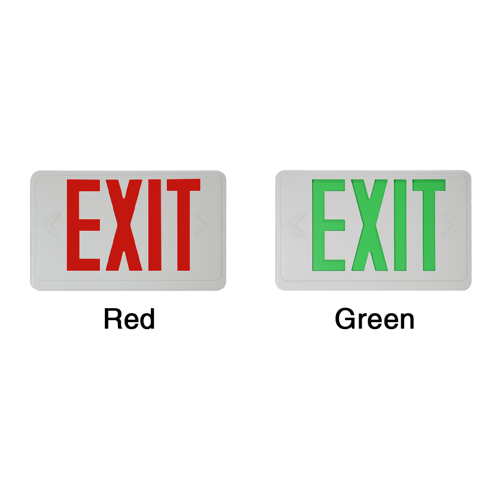 Led Compact With Battery Backup Hardwired Multifunctional Electric Emergency Lamp Safe Illuminated Lighting Exit Sign Letter