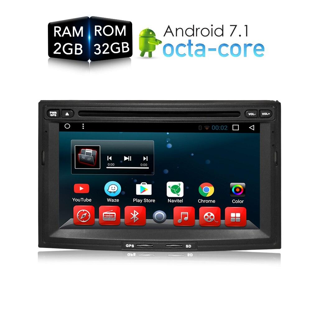 Android 7.1.1 Voiture DVD Lecteur GPS Glonass Navigation multimédia pour Peugeot 3008/5008/Partenaire Citroen Berlingo RDS Radio stéréo
