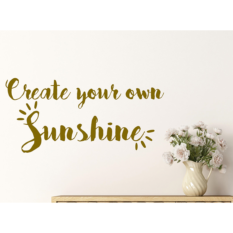 Attractive Personalised Create Your Own Sunshine Quote Vinyl Wall