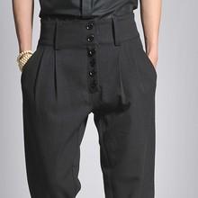 Мужские брюки больших размеров 27-44,, мужские брюки Гарун с высокой талией, брюки для отдыха, одежда певицы