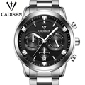 Cadisen 2016 Mens Watches Top Brand Luxury Complete Calendar 3Atm Sport Watches For Men Clock Stainless Steel Horloges Mannen
