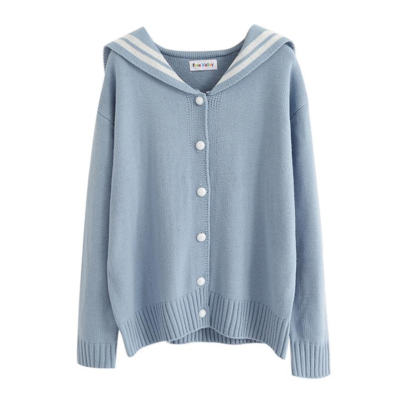 Women's Sweaters Kawaii Ulzzang College Wind Ribbon Bow Tie Knit Letter Embroidered Sweater Female Harajuku Clothing For Women