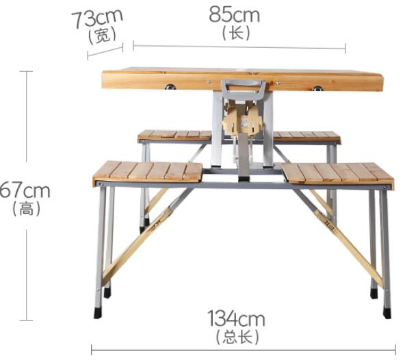 Aluminum Alloy Outdoor Folding Table Foldable Picnic Camping Dining Desk