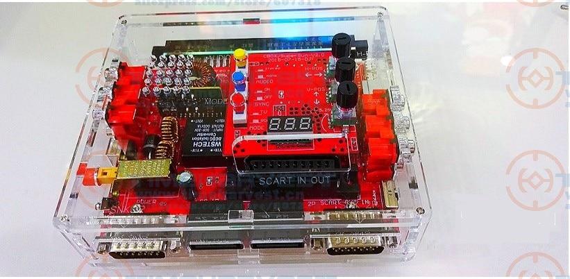 Newest V2 Super Gun JAMMA CBOX Converter Board To SNK D15P Joypad & Saturn Gamepad For Any JAMMA PCB Pandora Box MVS Motherboard