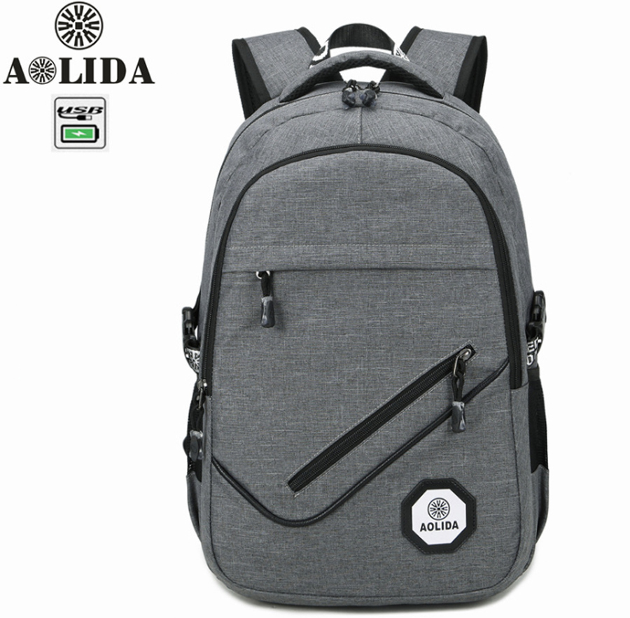 15 15.6 Inch with USB Interface Oxford Laptop Notebook Backpack Bags Case School Backpack for Men Women Student Travel