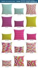 15 pcs patternto choisir rétro bande géométrie vague style linge decorative pillow oreiller canapé coussin gros de coussin de voiture