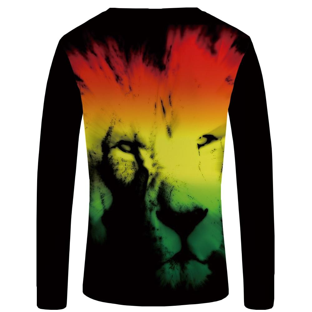 df49d8fd KYKU Lion Long T Shirt Men Black King Tshirt Gothic 3d Print T Shirt ...