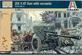 Out of print product! Plastic Toy Soldiers WWII Russian ZIS 3 Anti-Tank Gun Italeri 1/32 Scale 6880