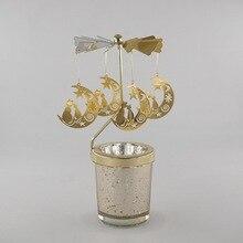 Подсвечники вращающиеся романтические вращающиеся карусели чайный светильник подсвечник Рождественская елка олень светильник ing домашний Декор подарок