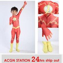 Thor costume bambini I Bambini Magico Fancy Flash Man cosplay costume Spandex corpo vestito tuta per i costumi di Halloween di trasporto libero