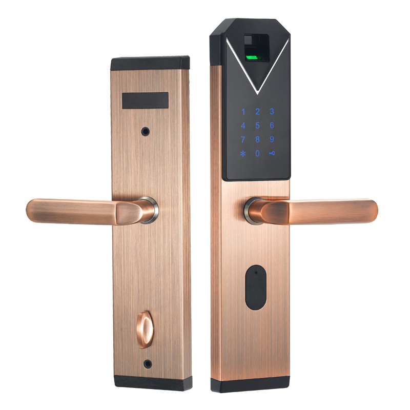 CYPATLIC JCF3325B Sliver Kleur Rvs Vingerafdruk Slot Porta Veilig Elektronisch Slot Met Engels Audio Gids - 2
