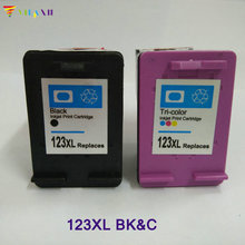 2pcs For HP 123 xl Ink cartridge for hp Deskjet 2130 1110 1111 1112 2132 3630 3632 Printer ink