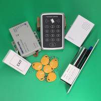 Rfid Door Access Control System 125Khz Rfid Card Wooden Door Access Control System Kit +Electric Bolt Lock & Power Supply