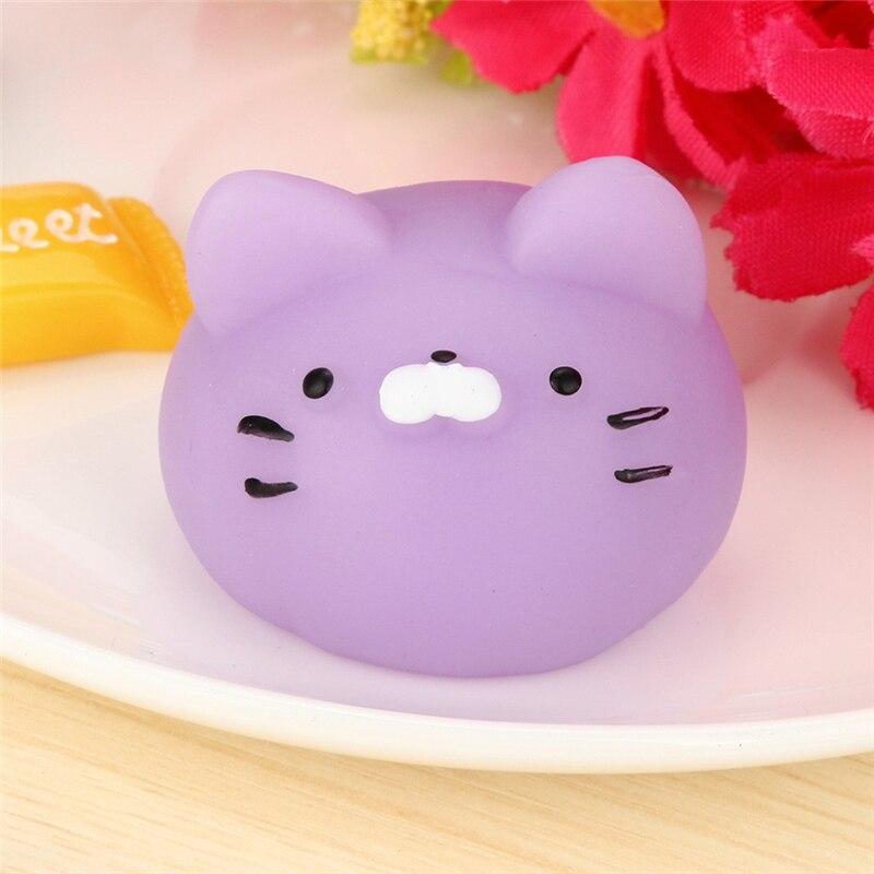 Cute Purple Cats Mochi Squishy Squeeze Healing Fun Kawaii