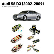 Led interior lights For Audi S8 D3 2002-2009 18pc Led Lights For Cars lighting kit automotive bulbs Canbus цена в Москве и Питере
