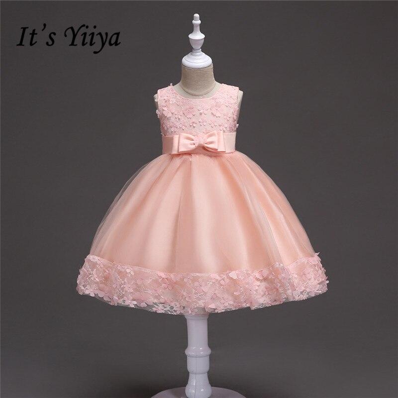 Its yiiya sweet appliques flower girl dresses beautiful pink its yiiya sweet appliques flower girl dresses beautiful pink princess ball grown lace o neck sleeveless girls dress 716 mightylinksfo