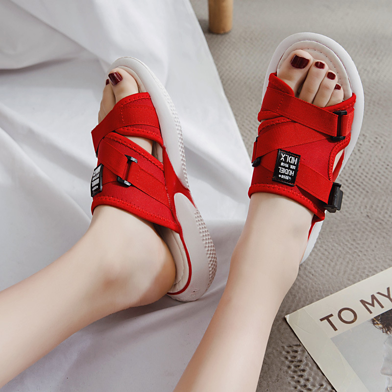 Summer Mesh Women Sandals Fashion Casual Shoes Slip on Wedge Swing Shoes Height Increasing Platform Sandals Lady Leafers white in Slippers from Shoes